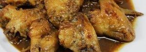 Aletes de pollastre amb soia