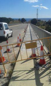 Teià obres pont autopista