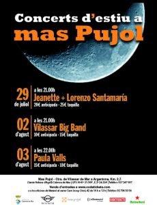 Concerts Mas Pujol Cabrera de Mar 2018