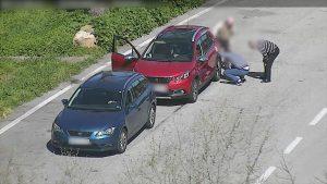 Captura d'un dels lladres detinguts durant un robatori a l'autopista.