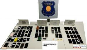 Imatge dels aparells recuperats pels Mossos d'Esquadra.