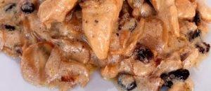 Filets de pollastre amb fruita seca