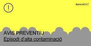 La Generalitat desactiva l'alerta per alta contaminació però manté activat l'avís preventiu