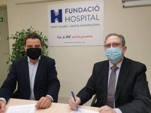 La Fundació Hospital de Sant Jaume i Santa Magdalena renova el conveni de col•laboració amb Serveis Funeraris Cabré Junqueras