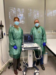 Realitzen 300 ecografies clíniques als dos Centres d'Atenció Primària de BSA, des de la seva implantació aquest estiu
