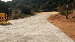 Finalitzades les obres de millora de camins forestals de Cabrera de Mar