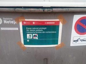 L'Ajuntament de Badalona instal•la cinc contenidors en els accessos de la Serralada de Marina
