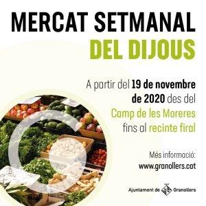 Nova ubicació provisional pel mercat dels dijous de Granollers a partir del dijous 19 de novembre
