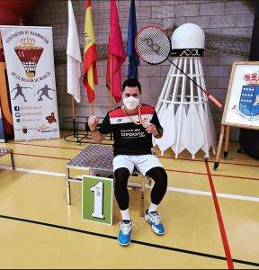 Dani Garcia guanya tres subcampionats d'Espanya de bàdminton