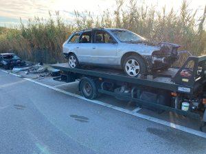 Retirada de quinze vehicles abandonats de la via pública d'Arenys de Mar