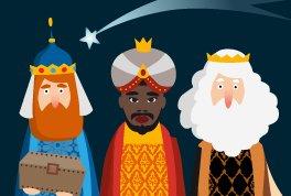 Alella dona la benvinguda als Reis Mags al pati de l'Escola La Serreta