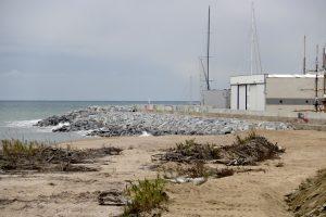 Ports enllesteix la reparació de l'escullera d'Arenys de Mar malmesa durant el temporal Gloria