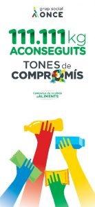 Donació d'ONCE Catalunya al Banc dels Aliments