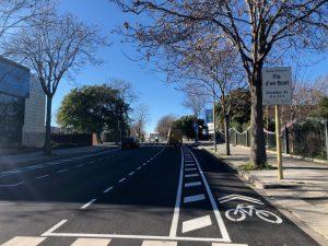 Nou carril bici al carrer de Joaquim Puig i Pidemunt de Mataró