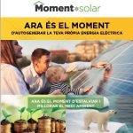 Campanya per promoure la instal•lació de plaques solars amb les quals generar electricitat a partir de l'energia del sol