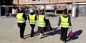 Agents cívics de Premià de Mar participen en accions per prevenir contagis de la COVID-19