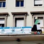 La Vella Quaresma ja penja del balcó de l'Ajuntament de Vilassar de Mar
