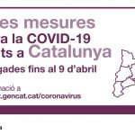 Es prorroguen les mesures contra la COVID-19 fins al 9 d'abril