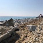 Les obres per protegir les vies del tren entre Mataró i Cabrera de Mar ja han reforçat 2 km d'escullera