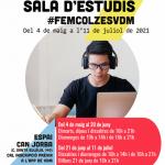 Del 4 de maig a l'11 de juliol, torna la sala d'estudi a can Jorba de Vilassar de Mar. Reserva de places a través de l'app