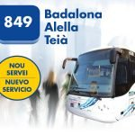 Dilluns entra en servei la línia 849 que connecta Alella amb Badalona