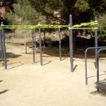 L'Ajuntament de Calella renova l'àrea de jocs de la Plaça Maresme i instal•la una zona de cal•listènia