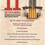 L'Ajuntament de Sant Vicenç celebrarà l'acte institucional de la Diada adaptat a la situació sanitària actual