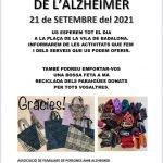 Badalona acollirà dimarts 21 de setembre dos punts informatius amb motiu del Dia Mundial de l'Alzheimer