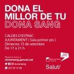 Nova jornada de donació de sang a Caldes d'Estrac