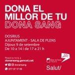 El 9 de setembre participa en la nova jornada de donació de sang a Dosrius